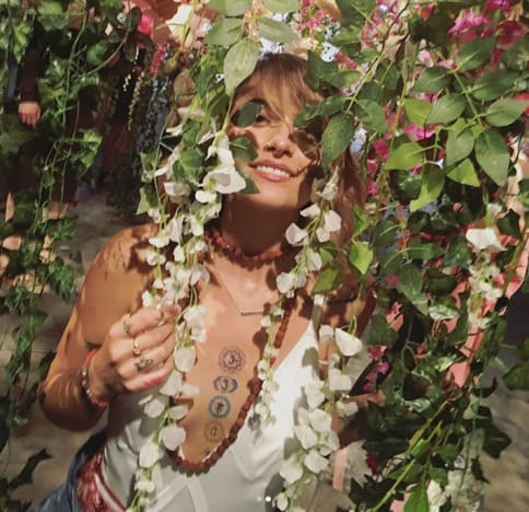 Paris Jackson, Tattoo and Flowers