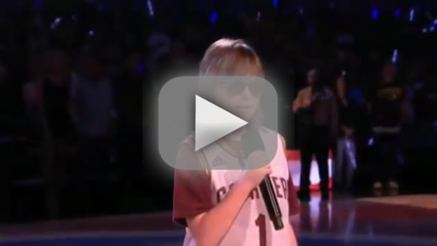 Marlana vanhoose blind teenager wows with national anthem perfor