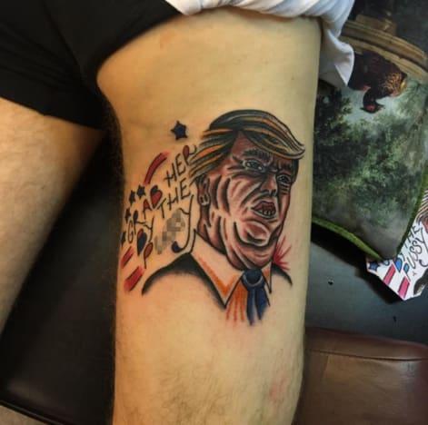 Donald Trump Tattoo