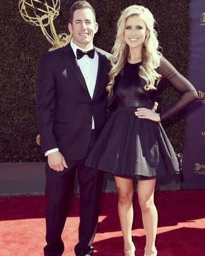 Christina and Tarek El Moussa at the Daytime Emmys