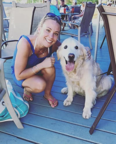 Kate Gosselin and a Dog