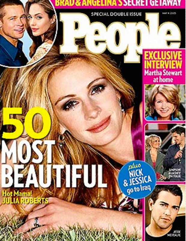 Julia roberts most beautiful cover