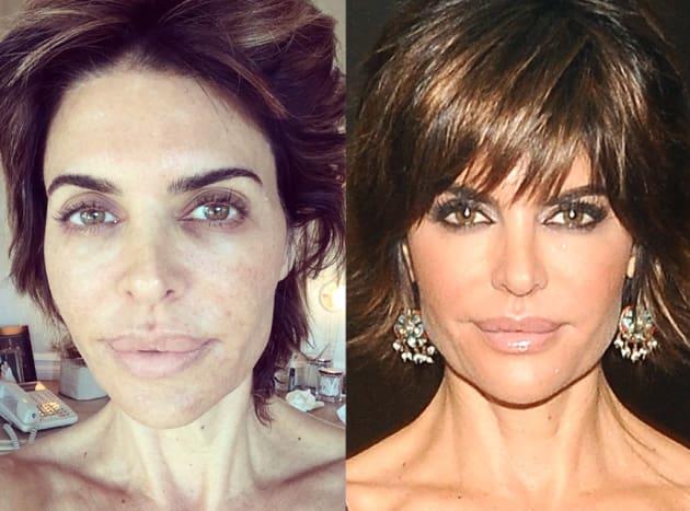 Звезды до и после макияжа ужас