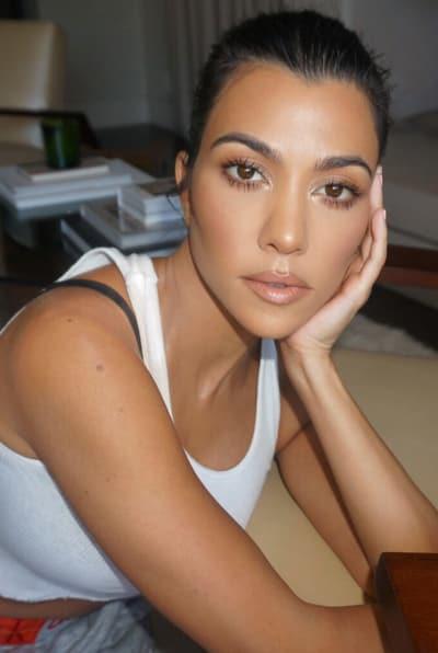 Kourtney Kardashian Stares Hard