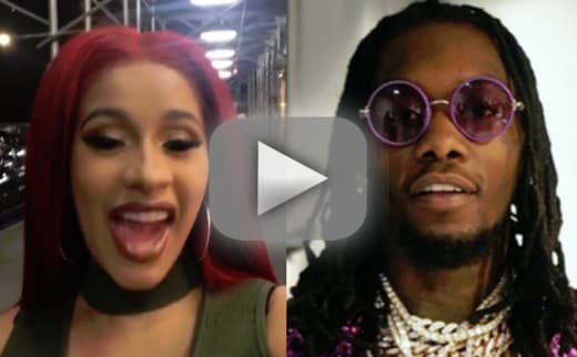 Cardi b and offset its over