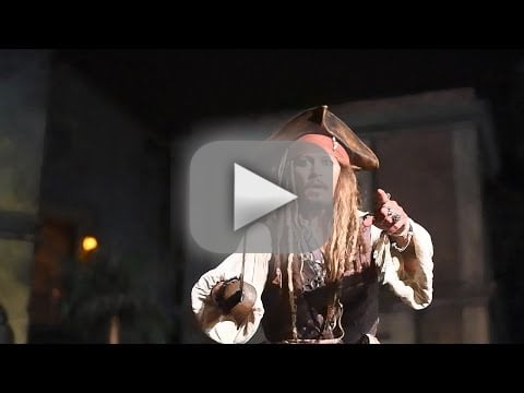 Johnny depp pops up on pirates ride as captain jack stuns fans a