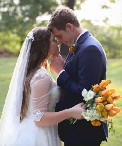 Joy-Anna and Austin Embrace
