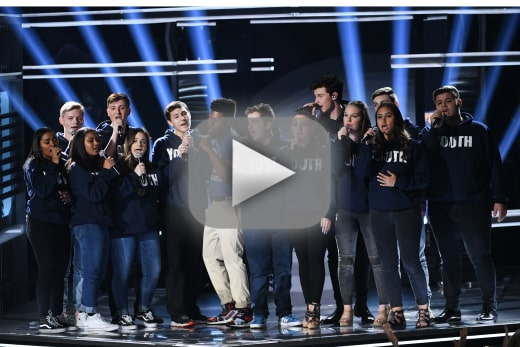 Shawn mendes performs with majory stoneman douglas choir