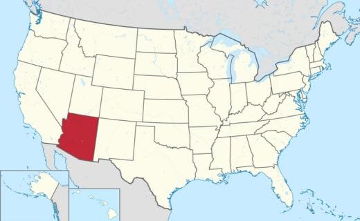 Arizona on a Map