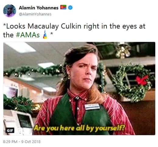 Macaulay culkin amas appearance twitter reaction 07