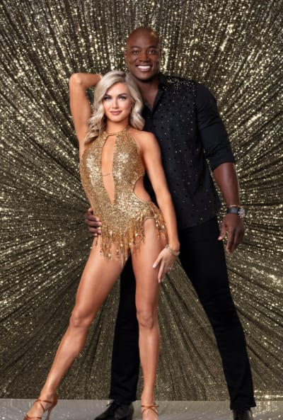 DeMarcus Ware and Lindsay Arnold