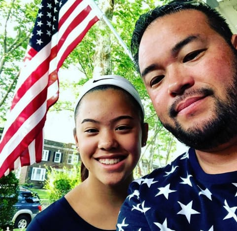 Jon Gosselin and Hannah Gosselin, July 4th