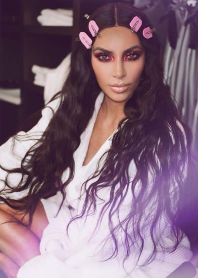 Kim Kardashian Gets Beautiful
