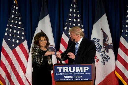 Donald Trump, Sarah Palin Photo