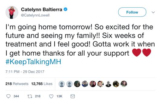 Catelynn Baltierra tweet