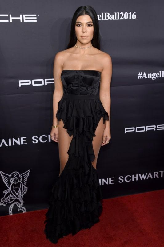 Kourtney kardashian in a black dress photo