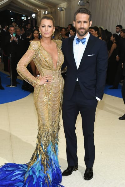 Blake Lively and Ryan Reynolds at 2017 MET Gala
