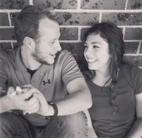 Josiah Duggar and Lauren Swanson in Black and White