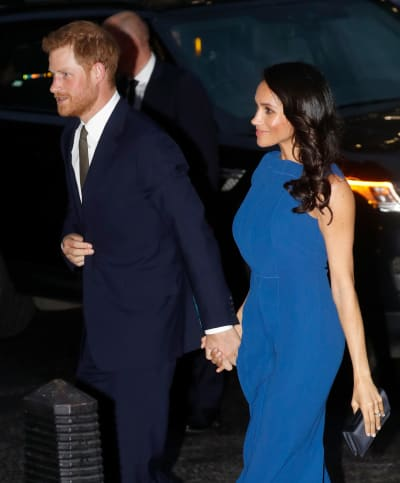 Meghan Markle in Blue Dress: A Photo