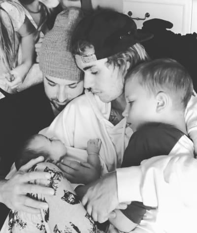 Justin Bieber Cuddles