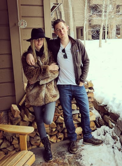 Nicky Hilton and James Rothschild in the Snow