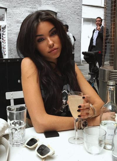 "Madison Beer Drinks Something ""Peachy"""