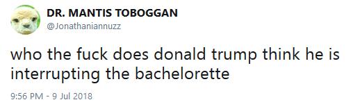 Bachelorette interrupted tweet 04 audacity