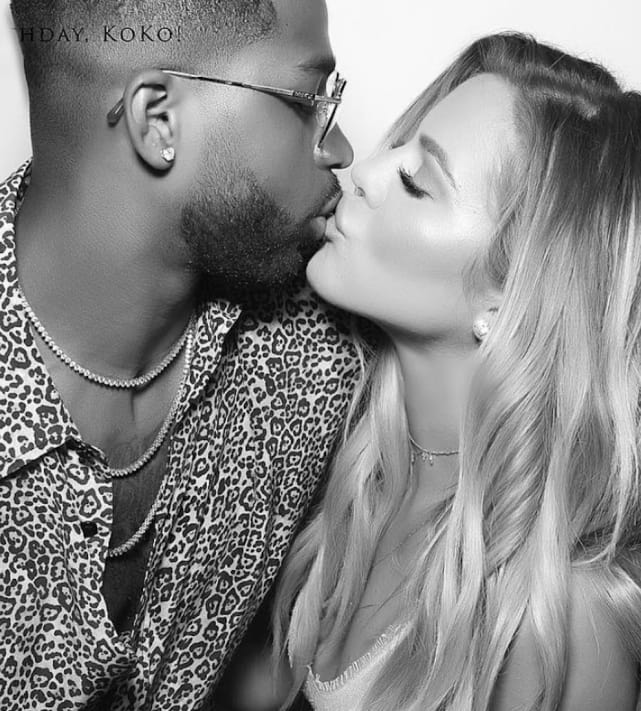 Khloe kardashian and tristan kiss