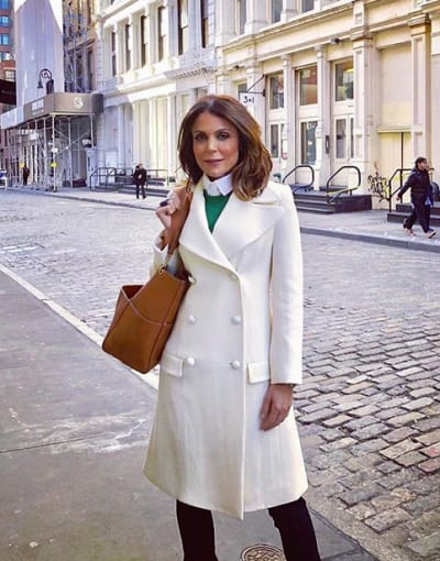 Bethenny Frankel in a White Coat