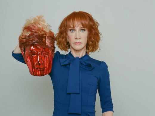 Kathy Griffin With Bloody Trump Head