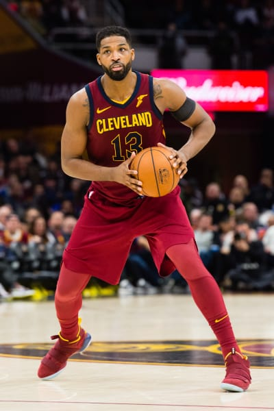 Tristan Thompson with the Ball