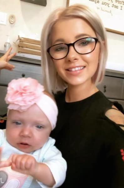 Lindsey Nicholson and Baby