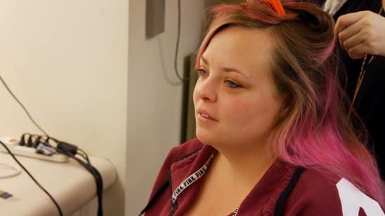 Catelynn at the salon
