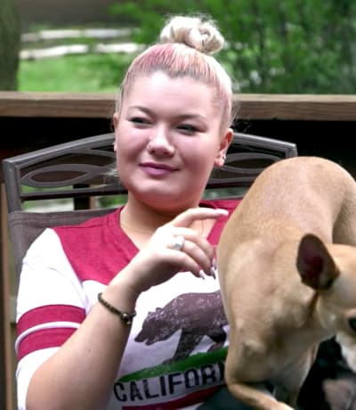 Amber Portwood and Her Dog