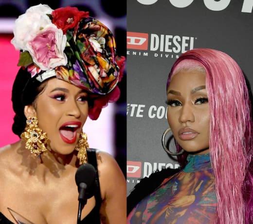 Cardi B, Nicki Minaj Split