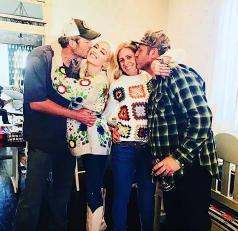 Gwen Stefani and Blake Shelton on Thanksgiving