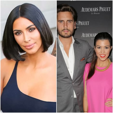 Kim, Scott, Kourtney