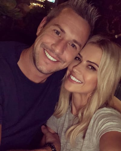 Christina El Moussa and Ant Anstead Cozy Up