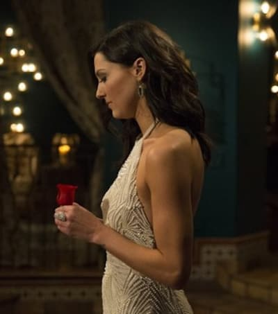 Becca Kufrin and Her Rose