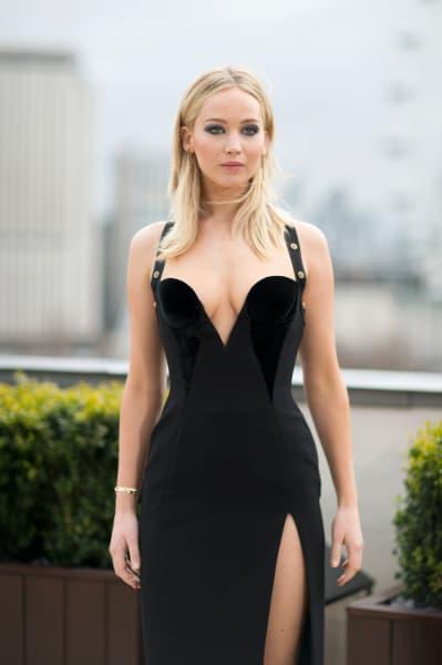 Jennifer Lawrence in Versace