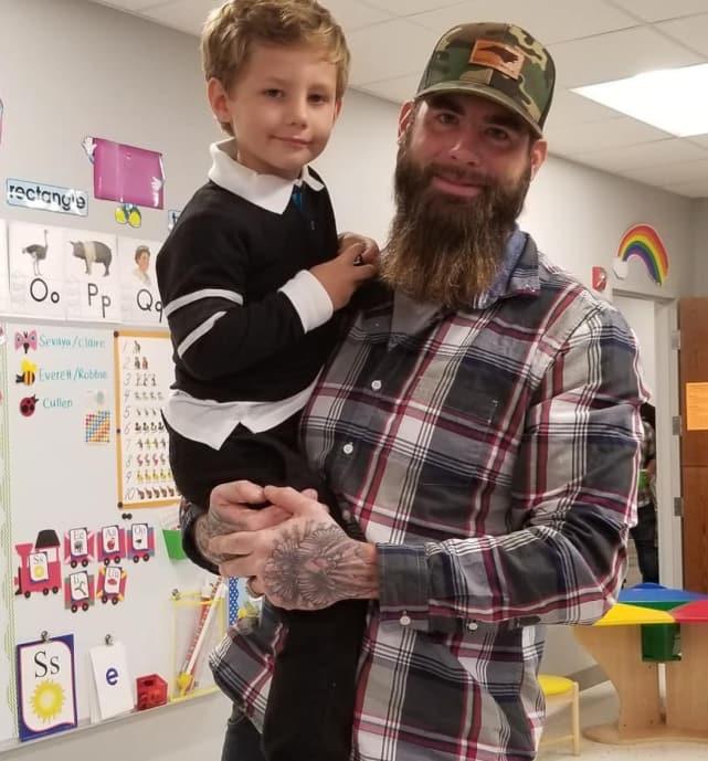 David eason with son