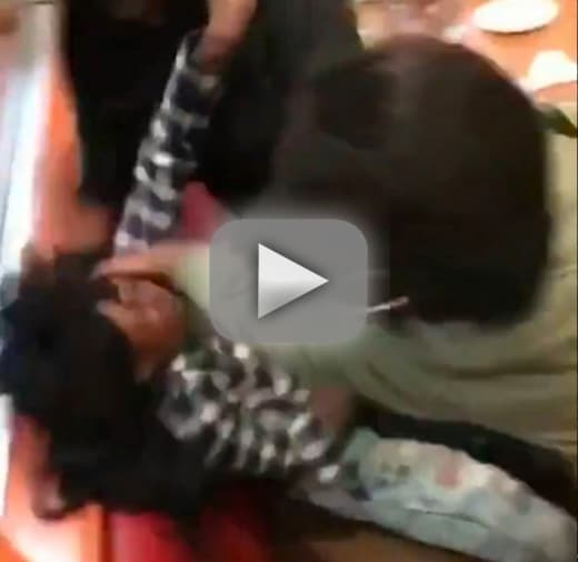Massive fight breaks out in dennys and we mean massive