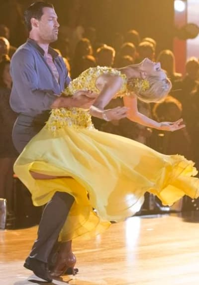 Heather Morris and Maksim Chmerkovskiy Dance