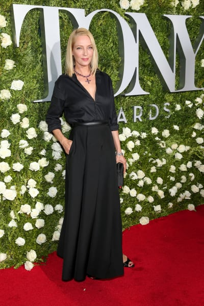 Uma Thurman at the Tonys