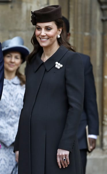 Kate Middleton, Very Pregnant