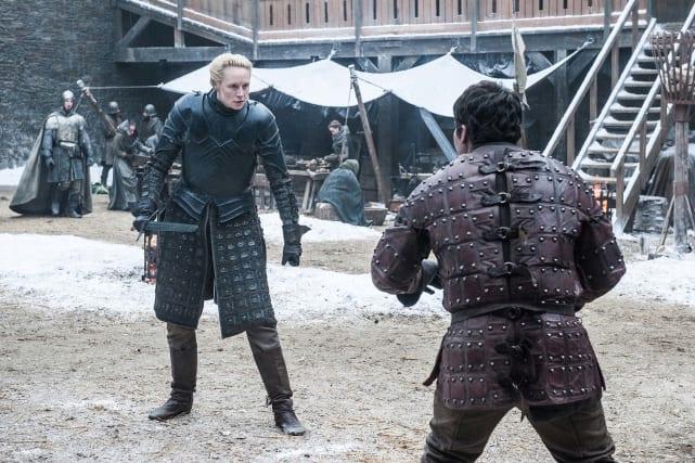 Brienne and podrick in battle