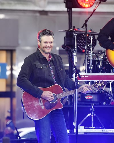 Blake Shelton with a Guitar
