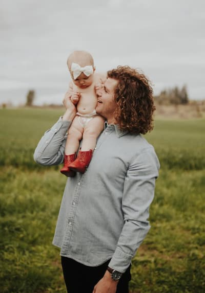 Jeremy Roloff Holds Daughter