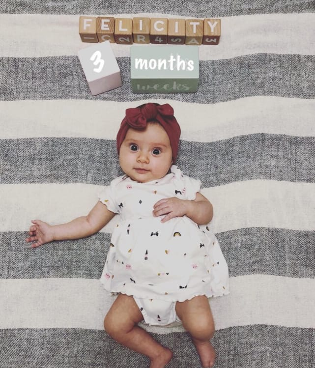 Felicity at 3 months
