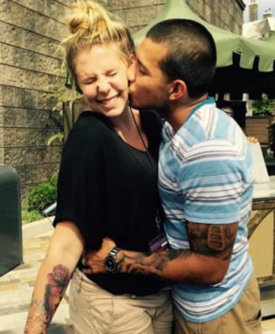 Javi Marroquin and Kailyn Lowry Kiss